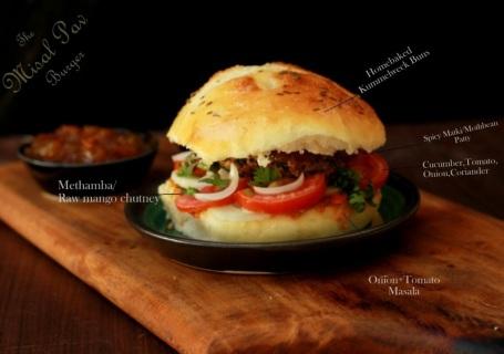 Misal Pav burger